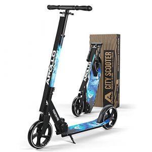Apollo XXL Wheel Scooter 200 mm - Phantom Pro étoiles est Un Trotinette City Scooter de Luxe, City-Roller Pliable et réglable en Hauteur, Kick Scooter pour Adultes et Enfants (geschenk-kiosk, neuf)