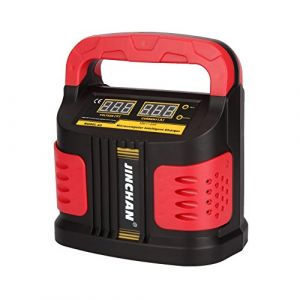 Chargeur de Batterie Moto Voiture Mainteneur Intelligent Automatique de 12 V 24 V(DC)/160V-260V(AC)/40 AH à 200 AH-JINCHANN (WinBestDirect, neuf)