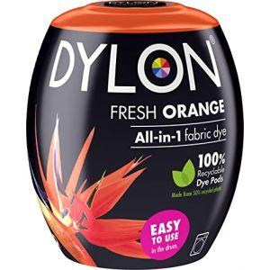 Dylon Teinture Textile pour Machine à Laver, Fresh Orange, 8.5 x 8.5 x 9.9 cm (The Quilted Bear Ltd, neuf)