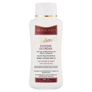 Makari Naturalle Intense Extrême Lotion Corps Éclaircissante (17.6 oz.). Lotion corps hydratante, éclaircissante et raffermissante à base de Beurre de Karité et d'écran solaire SPF 15 (Makari De Suisse EU, neuf)