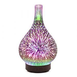 Diffuseur d'huile d'aromathérapie, humidificateur ultrasonique ultrasonique de brume fraîche d'huile essentielle de 100ml Snlaevx (argent) (Snlaevx, neuf)