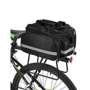 Lixada Siège De Vélo Arrière Sac Multifonction Imperméable À l'eau VTT Vélo Sacoche Sac Vélo Sac avec Housse De Pluie (GreenCT, neuf)