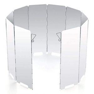 Diswoe Pare-Vent Pliable en Alliage d'aluminium, 10 Assiettes Pare-Vent de Camping Portable pour réchaud de Camping, cuisinière à gaz etc. (Pare-Vent) (Cherishone, neuf)