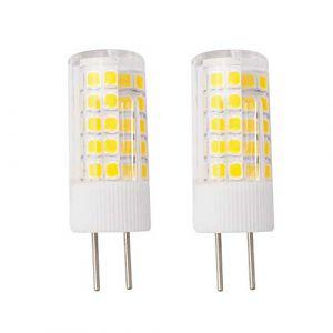 Grv Ampoule LED GY6.35 4 W AC 220V-230V 64-2835 SMD Ampoules en céramique pour cuisine, salon, salle de bain Miroir équivalent 40 W, blanc chaud, Lot de 2 (FRGRV, neuf)