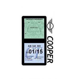 Générique Étui Double Assurance Compatible avec Mini Cooper Noir Porte Vignette adhésif Voiture Stickers Auto Retro (Stickers-auto-retro, neuf)