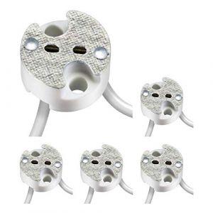 Parlat Universal-douille en Keramik pour G4, G5.3, GY6 Niedervolt Sockel 12V max. 25W, 5 pcs (LEDs Com GmbH, neuf)