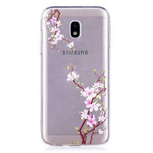 a6cdef2da7c4bc BoxTii Coque pour Galaxy J3 2017, iPhone 6S Silicone Coque Fleurs Housse  Transparent Etui pour