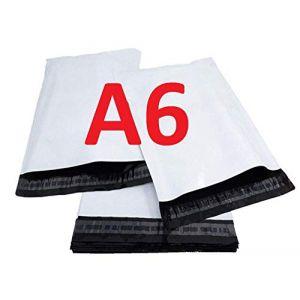 100 Enveloppe plastique A6 C6 pochette d'expédition en plastique blanche opaque A6 120 x 170 mm 50 micron sac livraison opaque 12 x 17 cm Enveloppe envoi fine légère solide inviolable et imperméable (solutions-imprimerie, neuf)