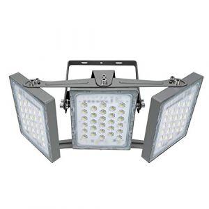Projecteur LED 150W, IP65 Imperméable, 13500LM, Eclairage Extérieur LED, Equivalent à Ampoule Halogène 900W, 5000K Lumière Blanche du Jour, Projecteur réglable pour granges, cour et garage (Panda Light, neuf)