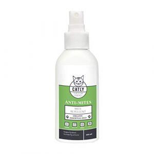 Antiparasitaire antipuce chat de Catly | Accessoire pour chat | Spray huile de neem, rosemary oil 100ml | Alternative au collier anti puces chat (Vivere GmbH, neuf)