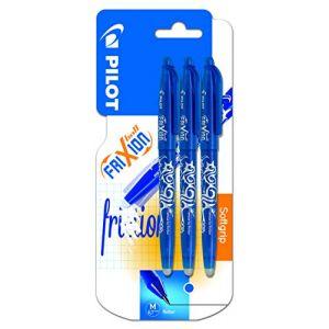 Pilot FriXion Ball Lot de 3 stylos rollers à encre gel effaçable (Bleu) (PAPETERIE DU COLLEGE, neuf)