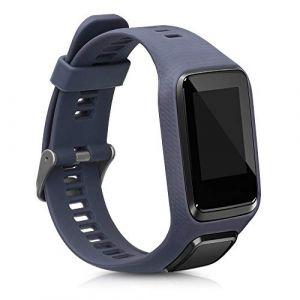 kwmobile Bracelet Compatible avec Tomtom Adventurer/Runner 3/Spark 3/Golfer 2 - Bracelet de Rechange en Silicone pour Fitness Tracker Anthracite (KW-Commerce, neuf)