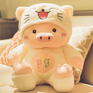 Peluche petit cochon oreiller de sommeil cochon poupée poupée chiffon poupée mignon chiffon poupée cadeau d'anniversaire -1_60 cm (lizhaowei531045832, neuf)