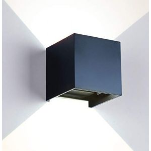 Applique moderne à LED de 12W / applique murale extérieure, angle de faisceau ajustable et étanche, boîtier en alliage d'aluminium, pour intérieur/extérieur (Noir-4000K) (xodycd-fr, neuf)