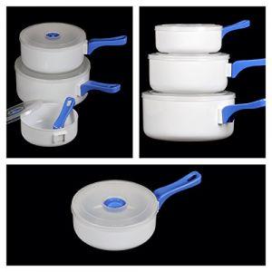 Maison Futée - Casseroles pour micro-ondes avec poignée amovible - Lot de 3 (Maison Futée, neuf)