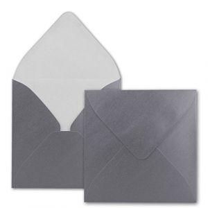 Enveloppes carré//15,5x 15,5cm//naßklebung, argent métallique, stable 110g/m²//Quantité de réduction. silber (GUSTAV NEUSER GmbH, neuf)