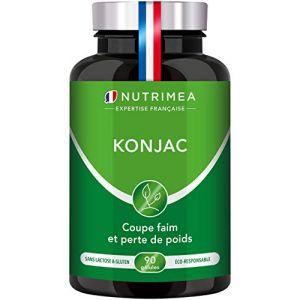 PUR KONJAC – 640 mg à 95% de glucomannanes / gélule – puissant capteur de graisses et de sucres - FABRICATION FRANCAISE – 90 gélules végétales (PLASTIMEA, neuf)