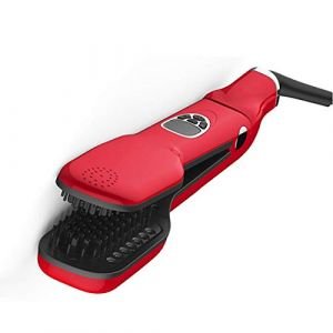 Vapeur Infrarouge Lisseur Brosse, Salon Professionnel Défrisage Peigne Avec La Conception D'affichage LCD, Fer Plat Infrarouge, Mane Natural Hair Care, Température Réglable (Rouge) (fdgfgfff, neuf)