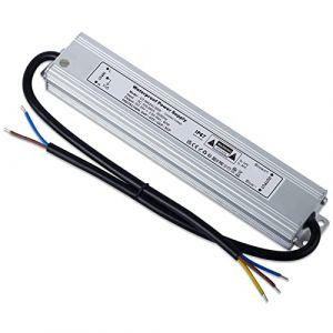 YAYZA! 1-Paquet Adaptateur ultra-mince compact pour pilote LED basse tension Étanche IP67 24V 2.5A 60W universel pour alimentation intérieur/extérieur à découpage CA/CC (ClickBuy Group, neuf)
