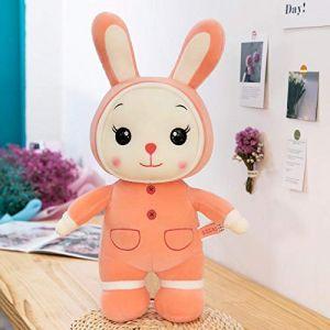Peluche cochon mignon cochon cochon lapin poupée chiffon poupée oreiller de couchage enfant confort chiffon poupée fille-Lapin rose_45cm (lizhaowei531045832, neuf)