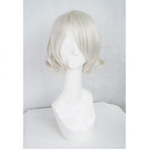 LanTing Cosplay Perücke Tokyo Ghoul JUZO SUZUYA REI White Cosplay Party Fashion Anime Human Costume Full wigs Synthetic Haar Heat Resistant Fiber (LANTING TRADE EXPORT LTD, neuf)