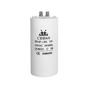 Condensateur de moteur 80 uF/450V CA (Electrofit SRL, neuf)