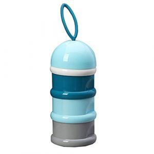 Non-Déversement Distributeur de Poudre de lait de Formule Infantile, Boîte à Snacks Poudre Bouteille de Récipient Portative, Peut être Empilée 3 Couche pour Voyage, Plein Air (Bleu) (vientiane, neuf)