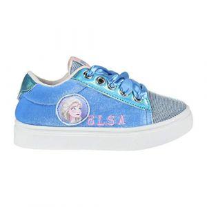 Disney Frozen 2 Chaussures Baskets pour Filles, Belle Design Reine des Neiges! Parfait pour L'école ou Décontracté, Conception 3D Scintillants, Fermeture Facile! Taille EU 33 (La Esencia, neuf)