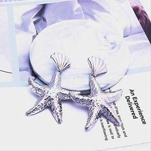 Épingle à oreille coquille étoile de mer étoile goutte boucle d'oreille Bohême mer plage été balancent boucles d'oreilles pour les femmes cadeauor (Graceguoer, neuf)