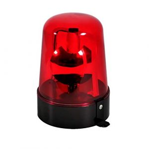 Lampe Gyrophare projecteur ROUGE rotatif effet POMPIER/POLICE (SONO-ENERGIE, neuf)