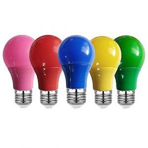 Ampoule Led Colorée E27 5W 7W 9W Lampe Ac220V 110V Rouge Bleu Vert Jaune Rose Bombillas Led Lampara Pour Bar Ktv Party Lights, Bleu, 9W E27 85-265V (tonghuamaoyi, neuf)