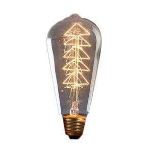 ST64 Lumineux Ampoule Vintage Lampe Imitation Filament De Tungstène LED Ampoule Chaude Lumière Jaune Pour La Décoration Intérieure Extérieure (Jaune Chaud) FRjasnyfall (FRjasnyfall, neuf)