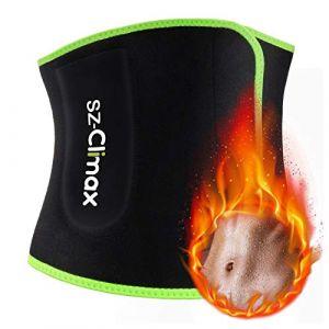 Ceinture Abdominale, SZ-Climax Ceinture de Sudation pour Homme et Femme - Ceinture de Minceur Elastique en Néoprène Sport Fitness Sauna Perte de Poids (SZ-Climax-UK, neuf)