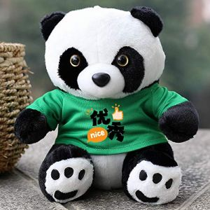 Poupée Panda En Peluche, Cadeau De Poupée De Poupée De Chiffon, Cadeau Pour Enfants Assis 22 Cm De Haut Vert (lizhaowei531045832, neuf)