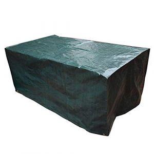Couvertures Protectrices de Tableau de Jardin,Couverture Imperméable à l'eau Rectangulaire de Jeu de Table de Couverture de Meubles Réglables de Patio,Vert,230x135x80cm (PATIO PLUS+, neuf)