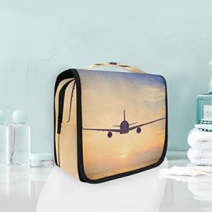 Trousse de maquillage, trousse de toilette, voyage au coucher du soleil, avion, coucher de soleil, avion (XiangHefu, neuf)