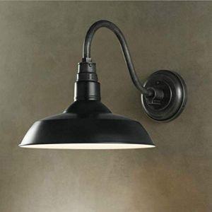 DLGGO Applique Murale Antique Dôme d'extérieur Applique Murale Rétro Industriel E27 Applique Murale Étanche Rustique Bronze Grange Noire autour de l'Ombre Entrepôt Loft Balcon Surface au Sol Extérieur (Shoppinggenius, neuf)