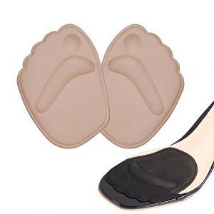 Demi semelle silicone avant pied, semelle auto adhesive chaussures, 2 paires semelle chaussure trop grande, antidérapant coussinet plantaire avant pied (Leejun-EU, neuf)