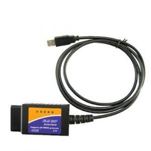 Câble d'interface USB ELM327 OBD2 pour diagnostic auto ELM 327 (Boutique-Mister-Express, neuf)