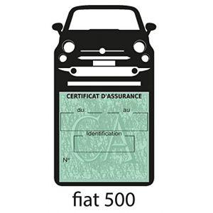 Générique Étui Simple Assurance New Fiat 500 Noir Porte Vignette adhésif Voiture Stickers Auto Retro (Stickers-auto-retro, neuf)