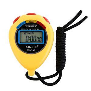 Sport Chronomètre numérique, fonte Power étanche multifonction Minuteur Arrêt Montres Horloge avec grand écran électronique, idéal pour le sport fitness Trainer et Arbitre, jaune (autumn-wind, neuf)