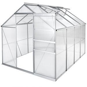 TecTake Serre de Jardin et Polycarbonate alu Tente abri Plante Jardinage - diverses modèles - (250x185x195 cm sans Base   no. 402476) (Made4Home SAS, neuf)