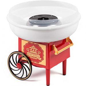 Gadgy ® Machine à Barbe à Papa Chariot | Appareil Cotton Candy | Utiliser Sucre Ordinaire ou Bonbons | Fete Foraine Anniversaire Enfant | Rouge Blanc (Gadgysales, neuf)