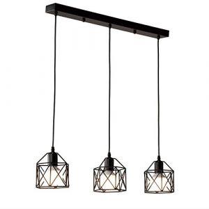 STOEX Suspension industrielle Vintage Lampe Lustre Abat-Jour Ajustable DIY Luminaire Salle à Manger Bar Noir (STOEX, neuf)
