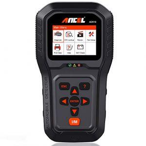 ANCEL AD510 Auto Diagnostic OBD 2 Scanner Moteur Fault Code Lecteur Automobile Outil de Diagnostique de OBDII Modes Complets pour Moteur Diesel et Essence (KZYEE FR, neuf)