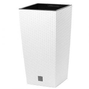 """Prosper Plast Drts265-s44926.5x 26.5x 50cm """"Rato"""" carré Pot de fleurs-Blanc (Hirschmann24, neuf)"""
