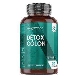 INTENSIVE COLON CLEANSE - Cure Detox - Puissant Nettoyant de Colon et Intestins - 100% Naturel et Riche en Fibre - Anti Ballonnements, Constipation, Problèmes de Transit - 60 gélules - WeightWorld (Comfort Click FR, neuf)