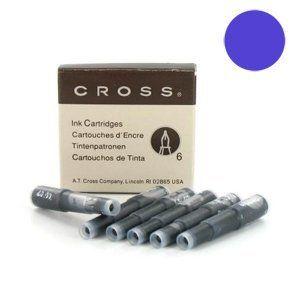 Cross 8931TD Lot de 6cartouches d'encre pour stylo plume, encre effaçable, couleur?: bleu (papeterie neveu, neuf)