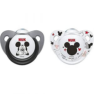 NUK Pack 2 Tetines Disney Mickey Silicone Sucette Biberon 6-18mois,modèles assortis (Booghe Shop - France - ( Fast Dispatch ), neuf)
