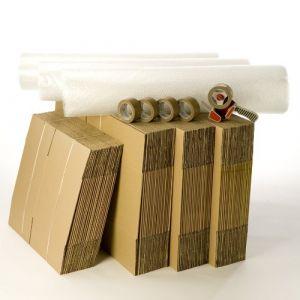 Kit cartons déménagement T5-T6 avec 5 rouleaux d'adhésif gratuits (CartonsDeDemenagement com, neuf)